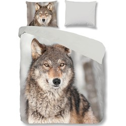 Goodmorning Dekbedovertrek Wolf Flanel-140x200/220