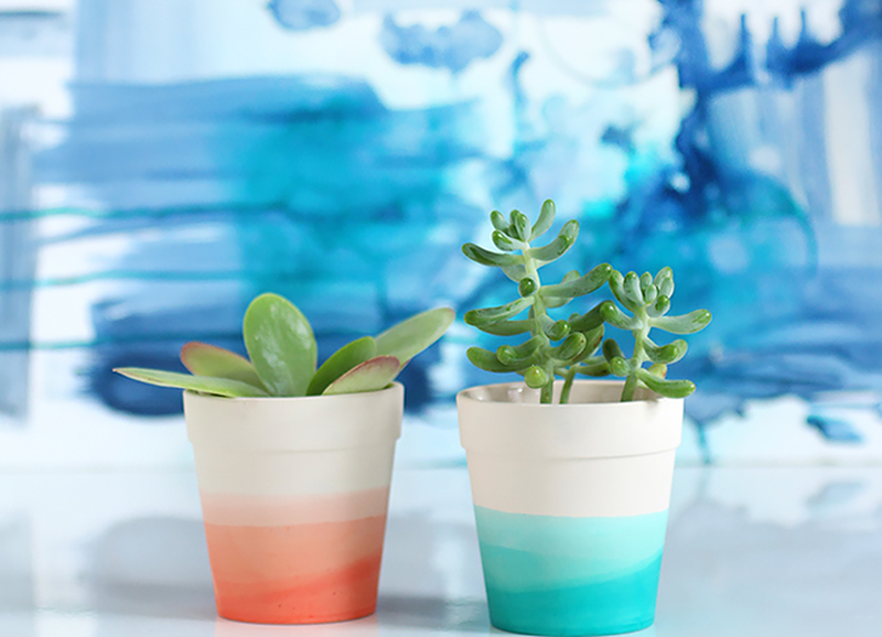 DIY: bloempotten schilderen