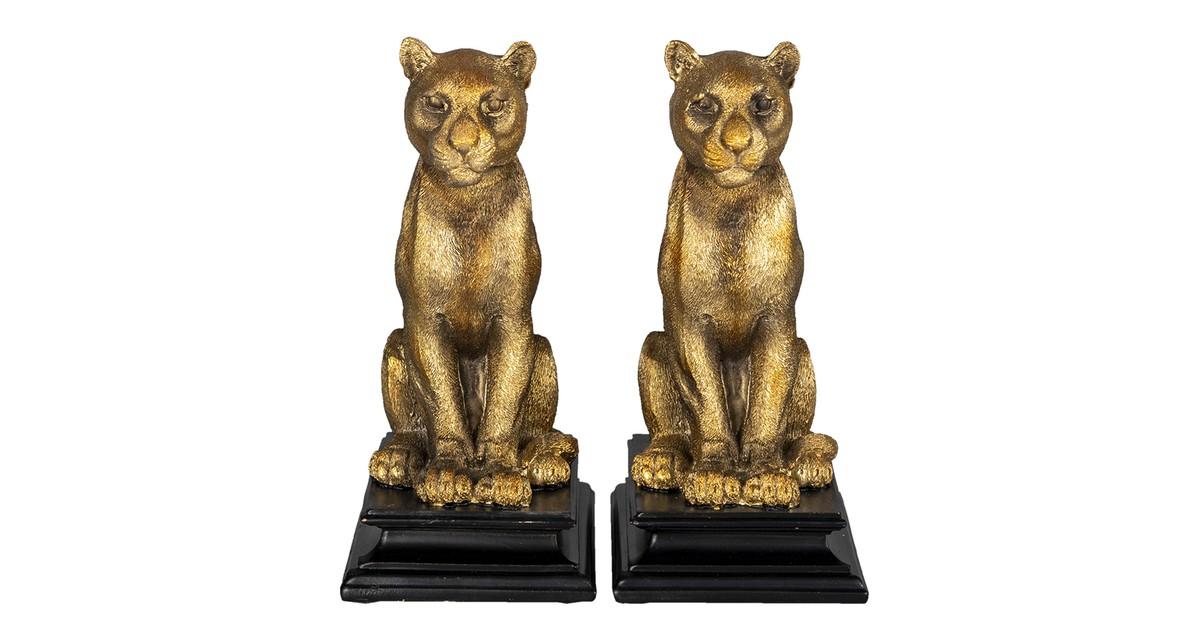 Clayre & Eef Boekensteun (2) tijger 21*14*23 cm 6PR3392