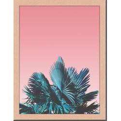 The Pink Sky - Fotoprint in houten frame - 30 X 40 X 2,5 cm