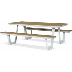 Lanterfant® Picknickset Jip - Aluminium – Lage instap – Wit/hout