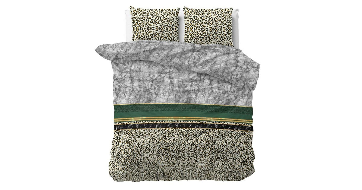Sleeptime Dekbedovertrek Trendy Marble Green-Lits-jumeaux (240 x 200/220 cm)
