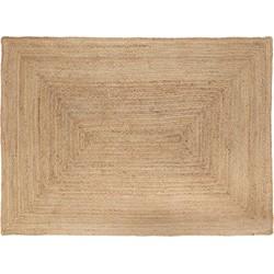 Jute Vloerkleed Rechthoek Naturel - 160 x 230 cm (M) Beige - 160 x 230 cm - (M)