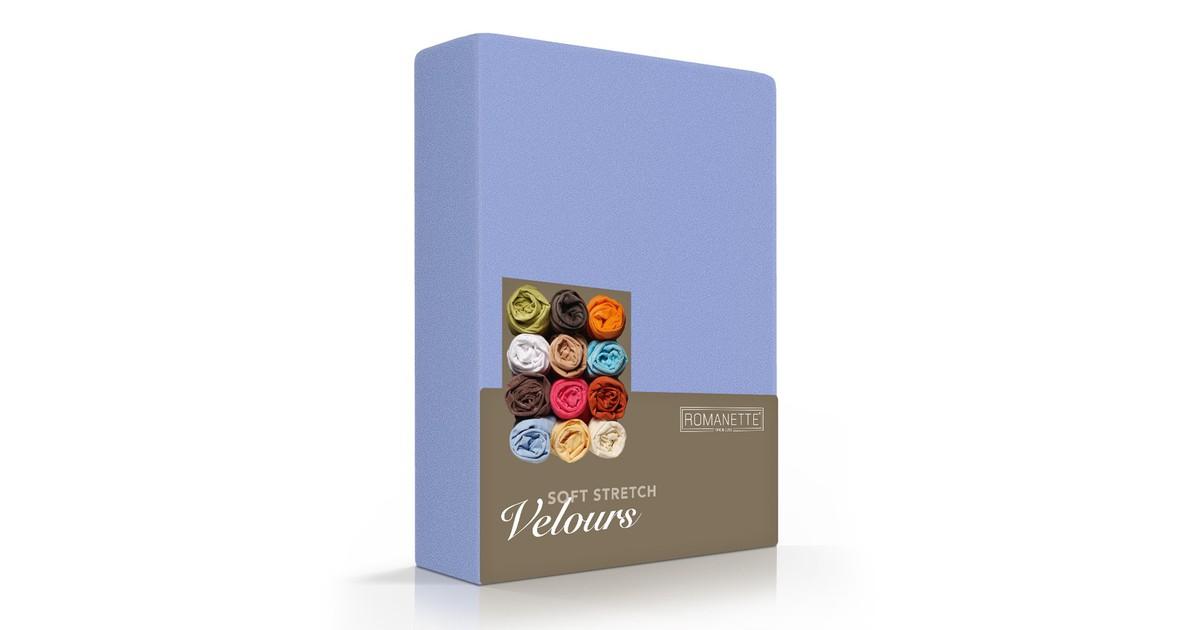 Romanette Hoeslaken Velours Lavendel-140/150 x 200/210/220 cm
