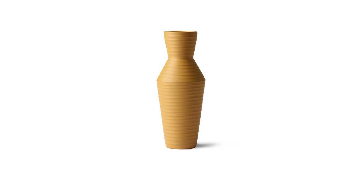 HKliving ceramic flower vase ochre