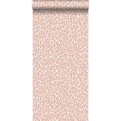 ESTAhome behang panterprint perzik roze
