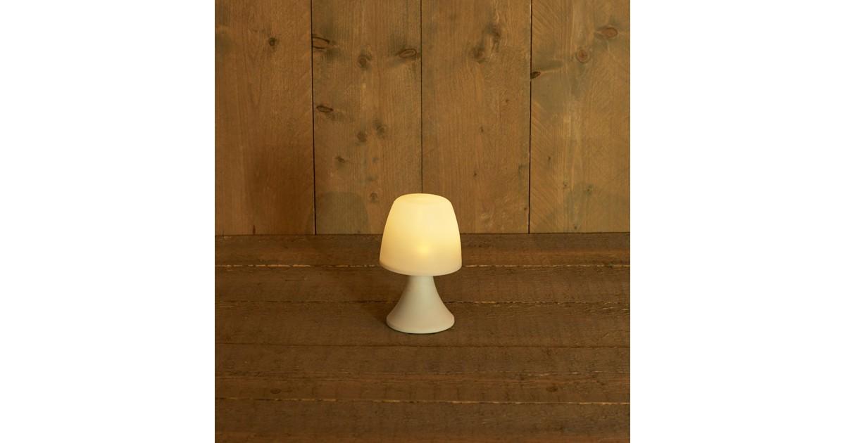 Solar tafellamp wit 11x20 cm warm wit led