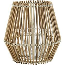 Madam Stoltz Windlicht Bamboe Rotan Naturel 16 x 17