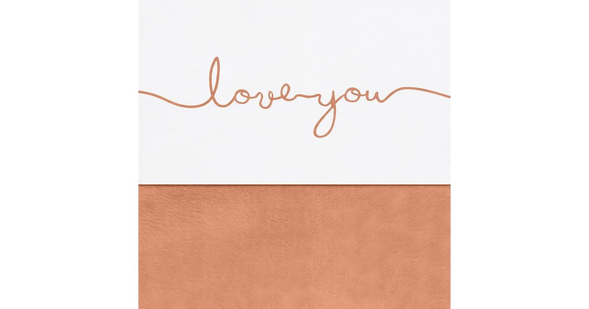 Jollein laken love you caramel (120 centimeter x 150 centimeter)