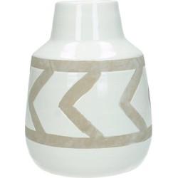 Vase ceramic white 13.5x13.5x17.5 cm