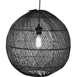 WF Light Hanglamp rotan citrus zwart 45cm
