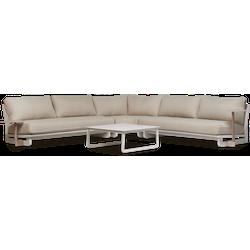 Lanterfant® Ralph - Loungeset - Clay - Aluminium - 7 personen