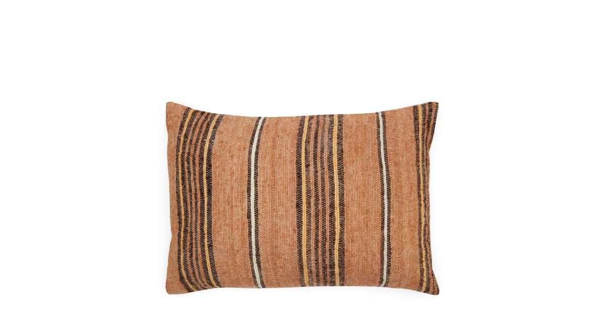 Riviera Maison Desert Nomade Stripe Pillow Cover Kussenhoes Brown 45.0 x 65.0 online kopen