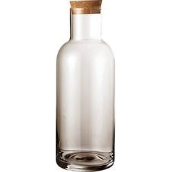 Bloomingville Fles met Dop Glas/Kruk Grijs - Ø9 x 25 cm