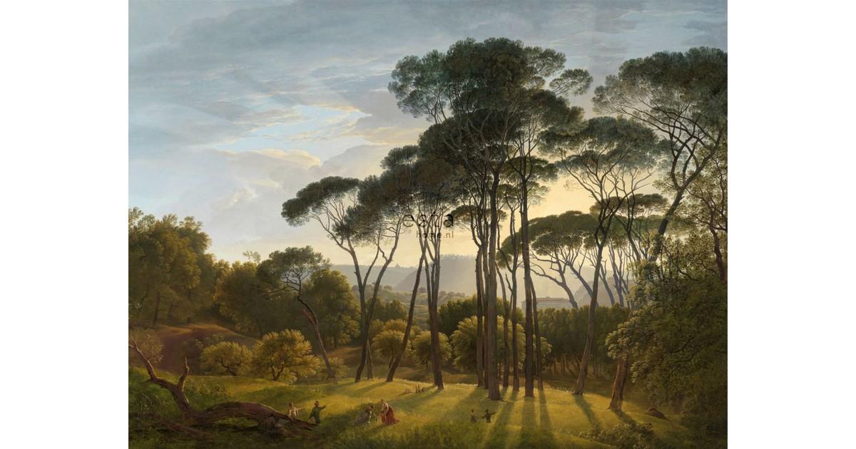 ESTAhome fotobehang Italiaans landschap donkergroen