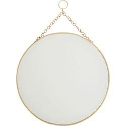 spiegel rond ijzer goud ø 30