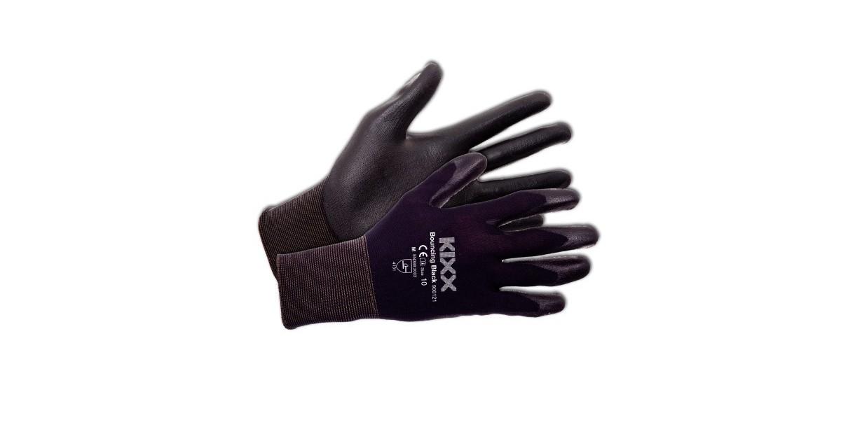 Tuinhandschoen Bouncing Black maat XL ofwel 10