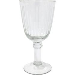 HK-living wijnglas gegraveerd strepen 8,5x8,5x17,5cm