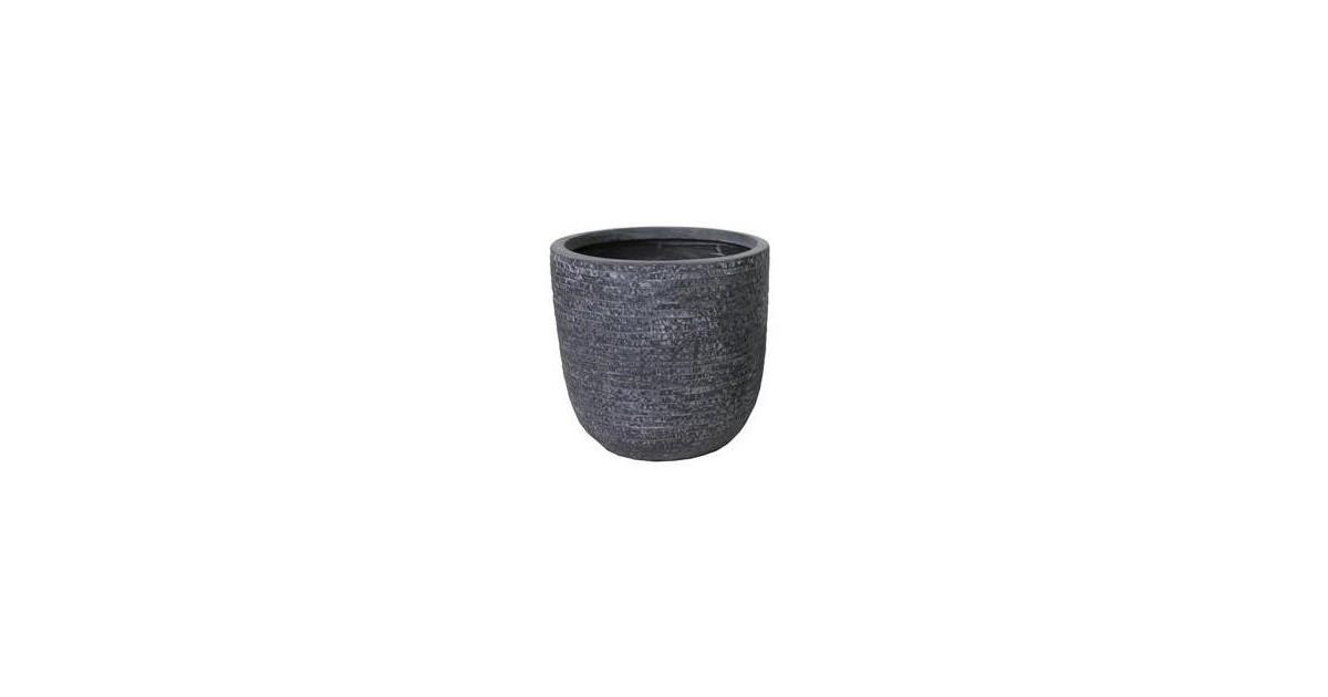 Utah Egg Pot Graphite D45H43