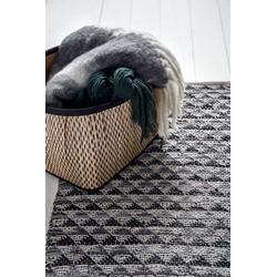 Nordal Denmark wollen plaid grijs met franjes 170x130