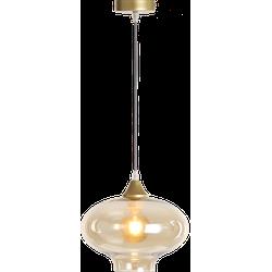 Hanglamp Vilmar 1 lichts goud + amber glas E