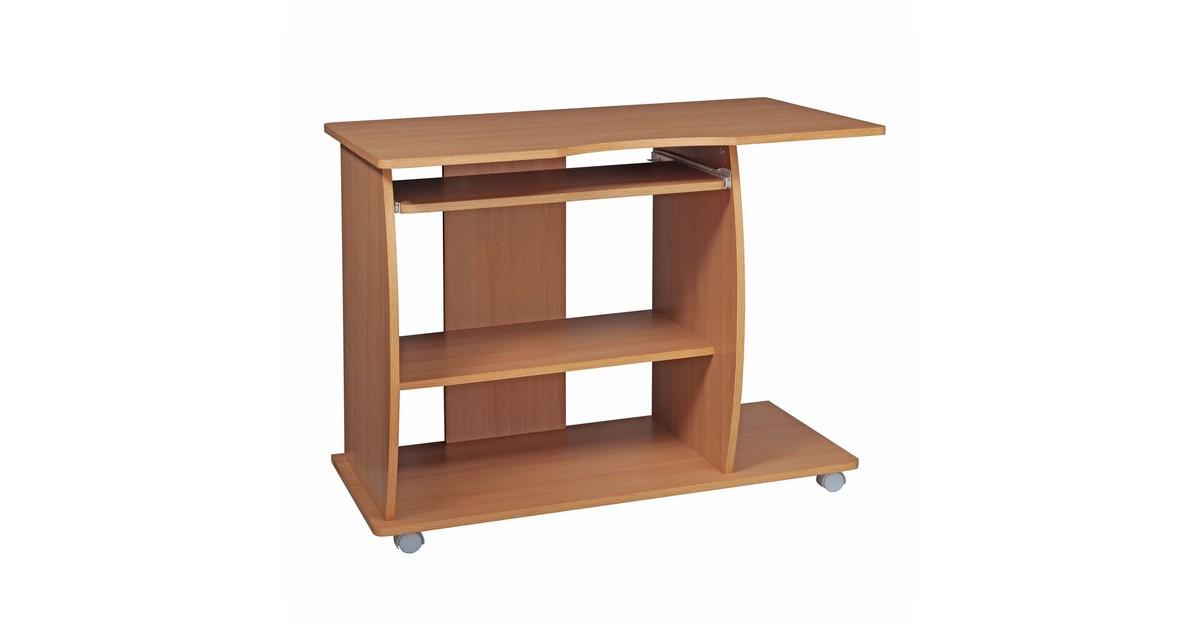 Nancy's Computer tafel - Werktafel - Bureau - Kantoor tafel met wielen - 90 x 50 x 71 cm