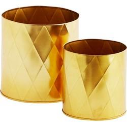 potten set harlequin goud 13 x 13