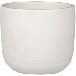 Mica Decorations nora ronde pot gebroken wit maat in cm: 16 x 17