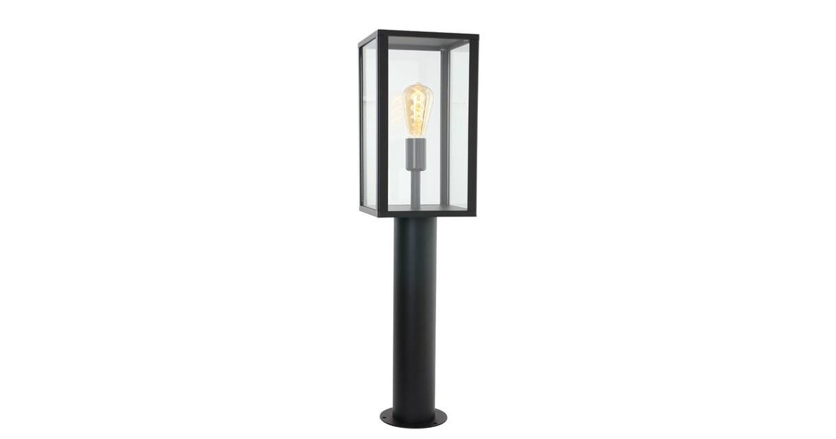 Boas Buiten staande lamp met glas 1 lichts zwart - Klassiek - 2 jaar garantie