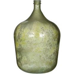 Mica Decorations diego glazen fles groen maat in cm: 56 x 40