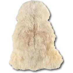 Schapenvacht krullend lang haar wit 100x70 cm