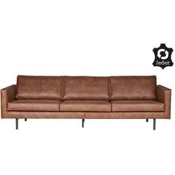 Rodeo bank 3-zits cognac - BePureHome - 85 x 277 x 86 cm