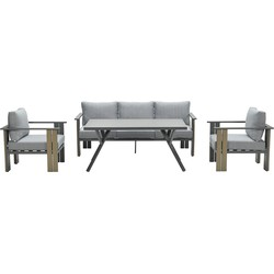 Garden Impressions Brady lounge dining set 4-delig - donker grijs
