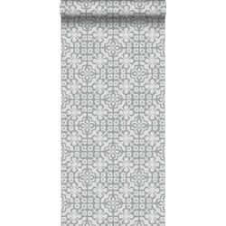 ESTAhome behang verweerde tegels grijs