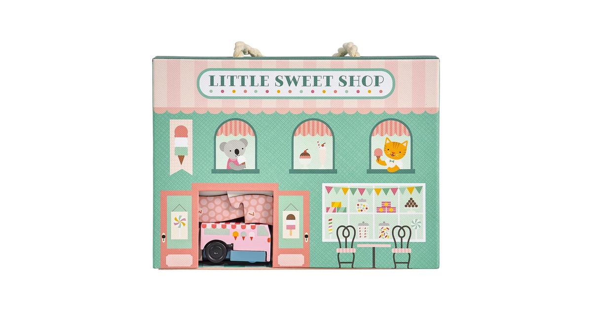 Petit Collage Wind up & go Speel-set | Winkel - Little Sweet Shop