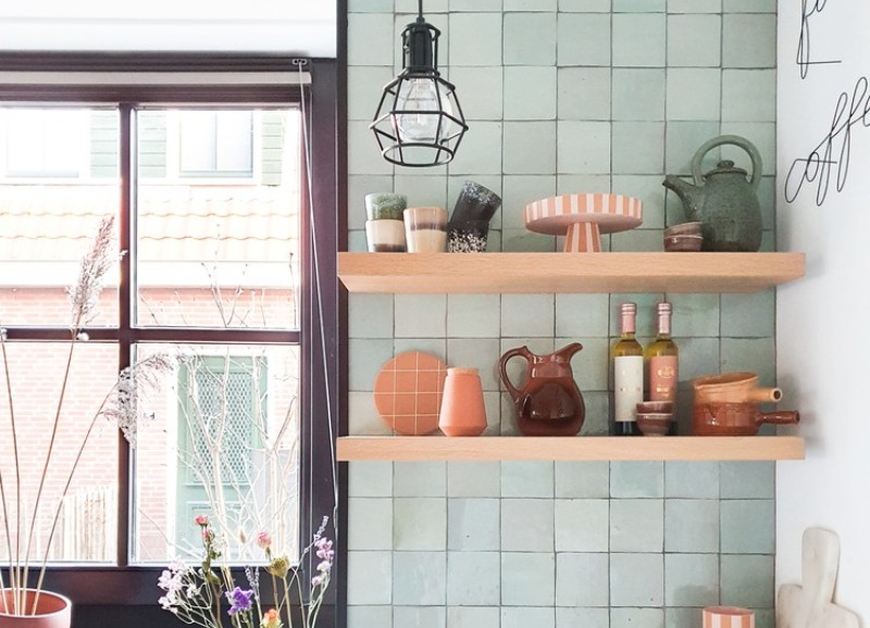 Inspiratie: een wandrek of -plank in de keuken