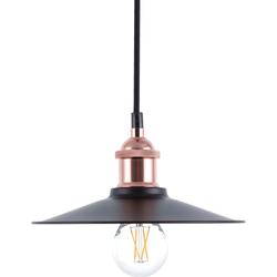 Hanglamp zwart/koper SWIFT S
