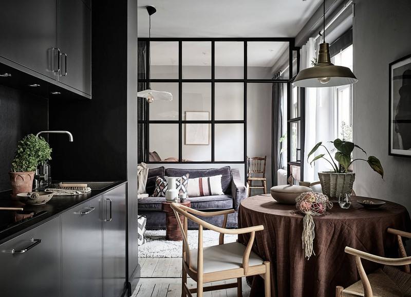 Shop the look: klein sfeervol appartement met donkere kleuren