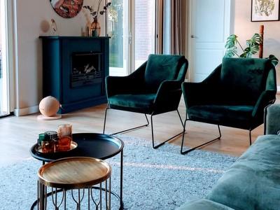 6x interieurs met smaragdgroene accenten