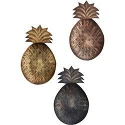 ananas decoratie set van 3 22,5 x 13,5