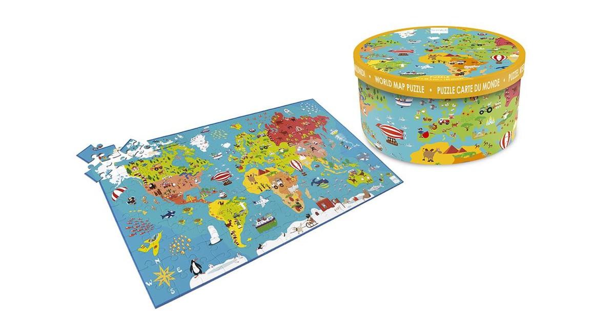Scratch Europe Puzzel Wereldkaart