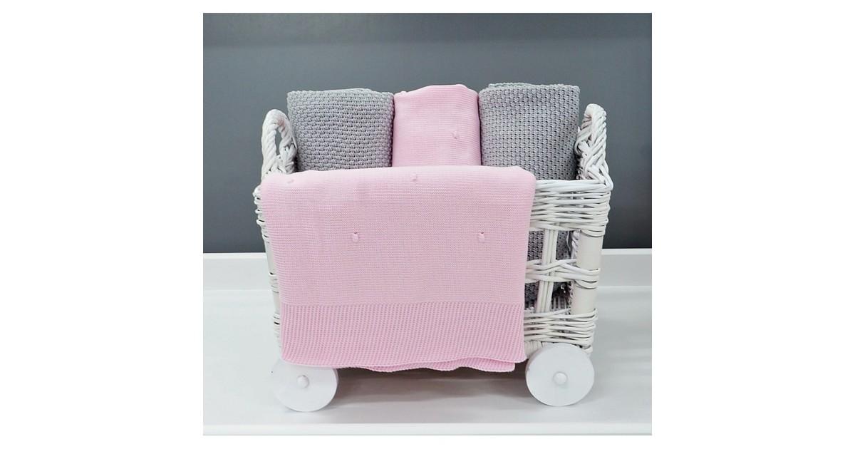 Gebreide Deken Roze Dolly