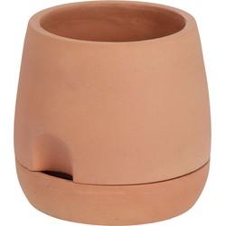 Kave Home - Klein Luigina zelfvoorzienende pot gemaakt van terracotta Ø 27 cm