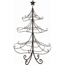 House of Seasons kerstboom metaal bruin maat in cm: 60 x 58 x 96