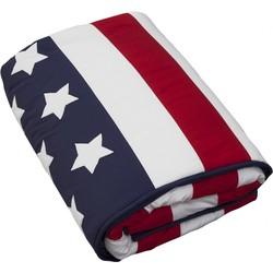 Taftan Sprei Amerikaanse Vlag 130x210cm