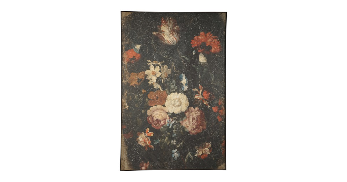Wandkleed - Bloemenprint - 80x120cm - PTMD