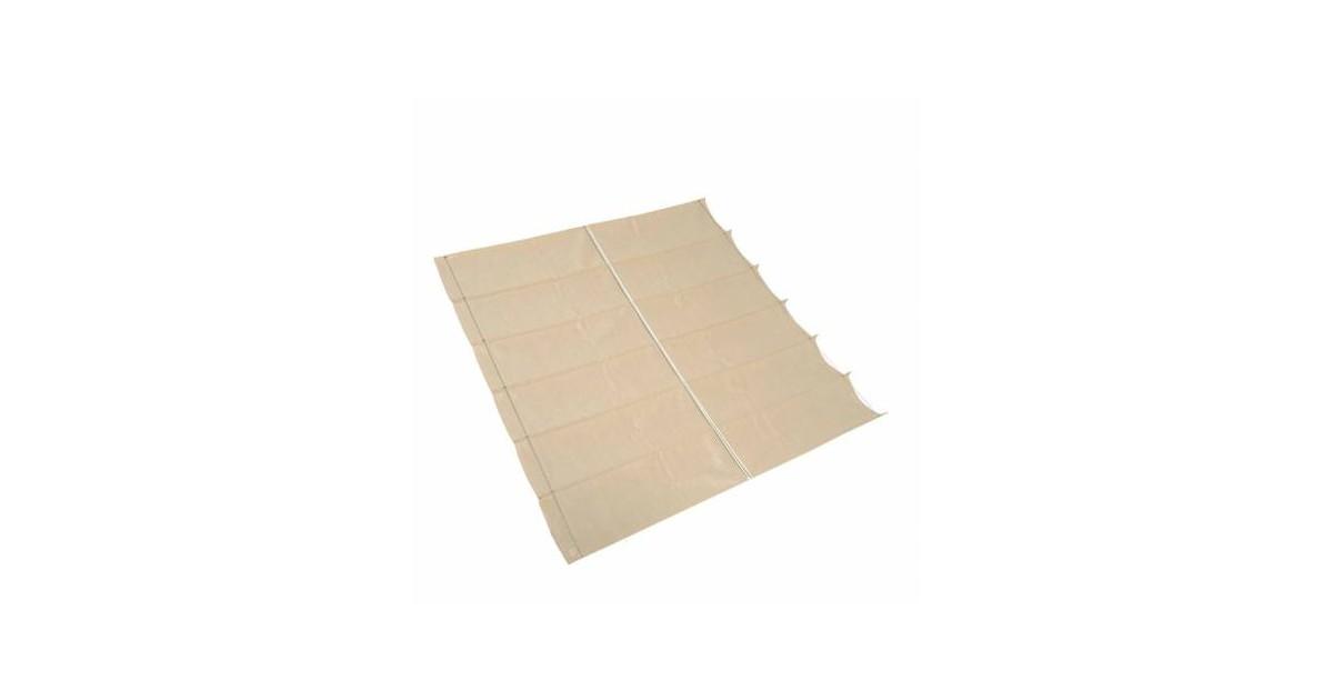 Compleet pakket met buitenreiniger Harmonica schaduwdoek, 2,0x3,0 Gebroken Wit