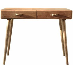 Spring - Sidetable - console - acacia hout - 2 laden - 100x50x76cm