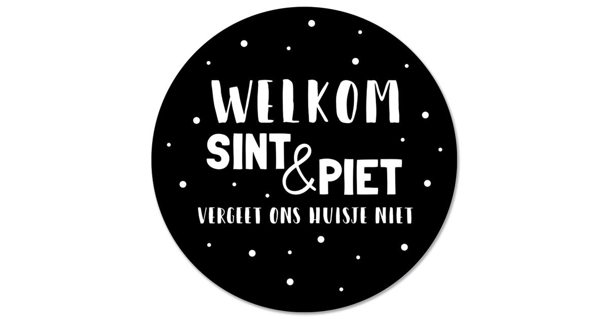 Muurcirkel klein welkom sint en piet - Ø 40 cm