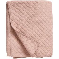 bedsprei quilt dusty roze 270 x 220